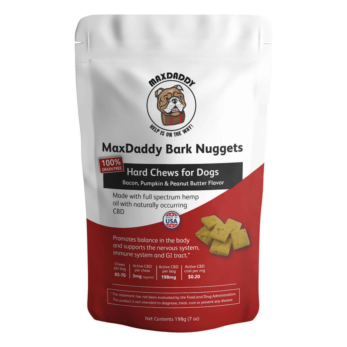 MaxDaddy Bark Nuggets CBD Dog Treats