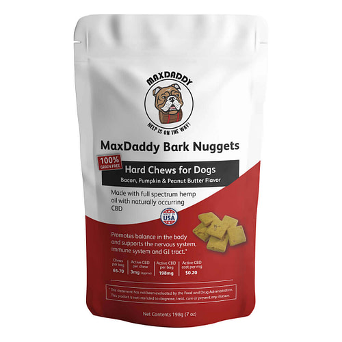 MaxDaddy Bark Nuggets CBD Dog Treats