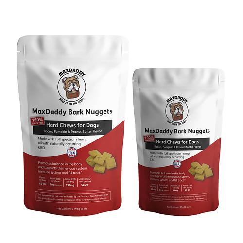 MaxDaddy Bark Nuggets Dog Treat with CBD Oil